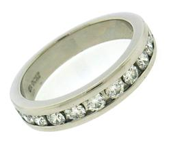 Classic Platinum Channel Set Diamond Band Ring