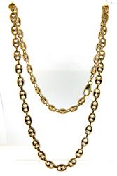 Puffed Gucci Link Chain Necklace