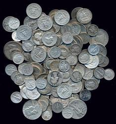 160 old 90% Silver Dimes, Quarters, and Half Dollars