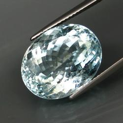 Vivid platinum blue 13.58ct untreated Aquamarine