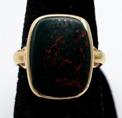 Antique Bloodstone Ring in Gold
