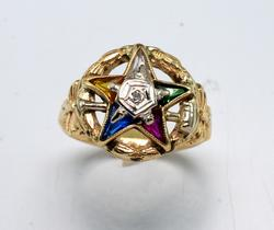 Beautiful Eastern Star Ring in Gold