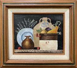 Original Oil on Canvas Still Life by Jeanne Risque