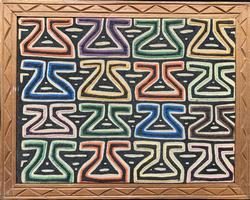 Vintage Tribal Fabric Art Hand Sewn