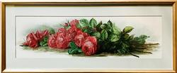 Vintage Paul d Longpre American Beauty Roses Lithograph