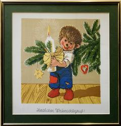 Cute German Christmas Art Mixed Media