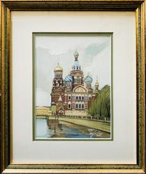 Church of the Savior on Blood (Russia)Watercolor