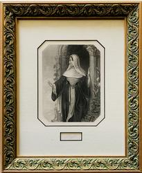 Beautiful Framed Lithograph of Abbess