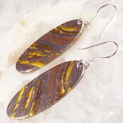 Bold pair of 50mm book end Tigers eye