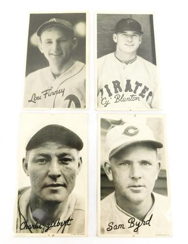 4 1938 Baseball Wide-Pen Litho Trade Cards