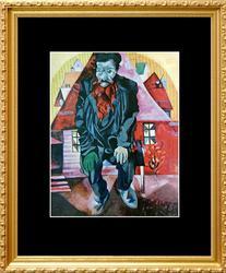 Marc Chagall, Jew In Bright Red