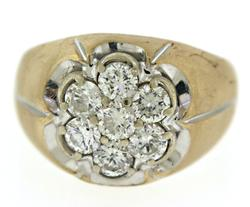 Gents 1.85ctw Diamond Cluster Ring