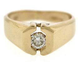 14kt Gents Diamond Band Ring