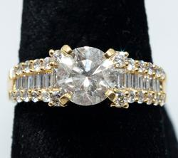 2.91ctw Diamond Ring, 18KT