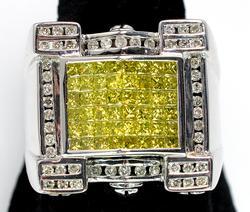 Mens 2.50ctw Diamond Ring, 14KT