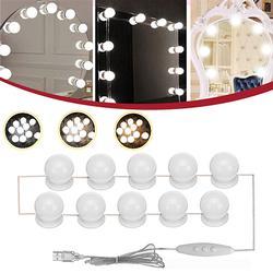 10PCS USB LED Bulb Vanity Makeup Dressing Table