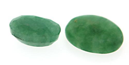 Pair of Emerald Green Beryl Stones