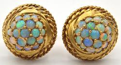 Very Rare vintage 14kt Yellow Gold & Opal Cufflinks