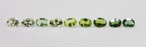 Fall in Love with Blue & Green Tourmaline - Set of 9