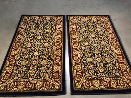 Persian Sarouk Design Matching Pair 2x3 Area Rug