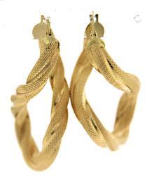 Simple 18kt Twist Hoop Earrings