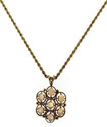 Beautiful Opal Necklace in 14kt