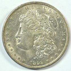 Near Mint 1898-S Morgan Silver Dollar. Scarce date