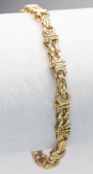 Intricate Fancy-Link Gold Bracelet