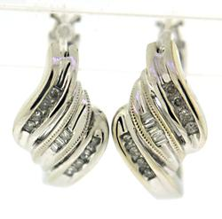 Amazing Round & Baguette Diamond Earrings