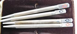 Vintage Sterling Silver Bridge Set of Lead Pencils