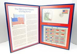 1981 United Nations Flag Cover & Stamp Mint Sheet