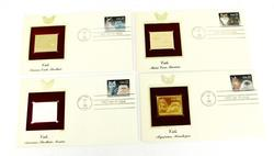 4 Cats 1st Day Issues & 22KT Stamps