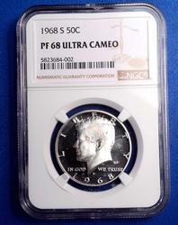 1968 50c PF68 Ultra Cameo NGC