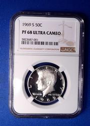1969 50c PF68 Ultra Cameo