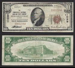 $10 1929 Edwardsville Ntl Bank and Trust