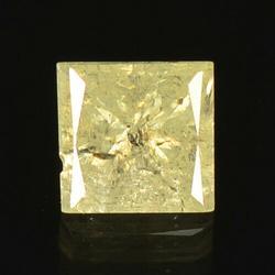 Glittering .46ct off white princess cut Diamond