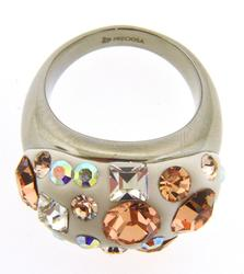 Dazzling Preciosa 'Pierre' Multicolor Ring