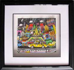 Hand Signed 3D Charles Fazzino 3D Serigraph