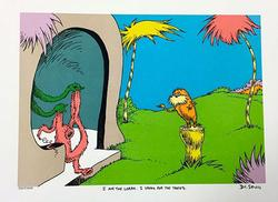 Dr Seuss I AM THE LORAX Estate Signed