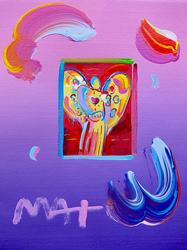 Peter Max ANGEL WITH HEART