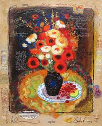 Alexander Wissotzky COLORFUL BOUQUET Hand Signed