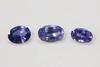 Bright Blue Lively Natural Sapphires - Set of 3