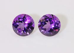Regal Natural Amethyst Pair - 3.88 cts.
