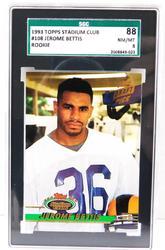 1993 Jerome Bettis Rookie Football Card, Graded