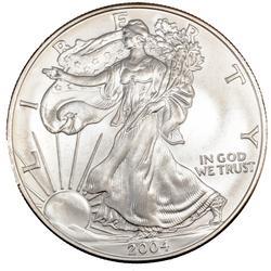 2004 Choice Frosty White BU Silver Eagle