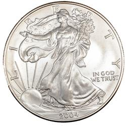 2004 Choice Frosty White BU Silver Eagle