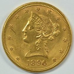 Uncirculated details 1896 US $10 Liberty Gold Piece