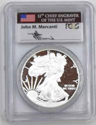 2014 W PCGS PR 69 DCAM Mercanti Signed Silver Eagle