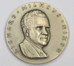 R M Nixon Silver Official 1969 US Inaugural Medal