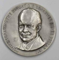 1971 Ike  Silver Medal Commemerating the Silver Dollar